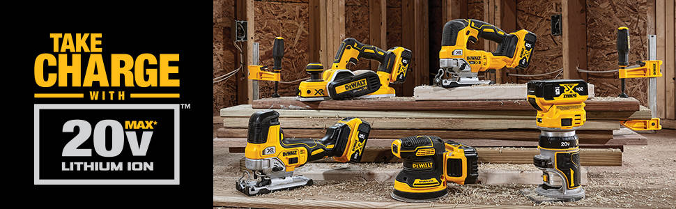 Take charge and use your 20V Max Lithium Ion battery on multiple tools