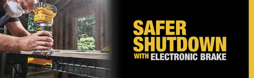 Safer shutdown with electric brake
