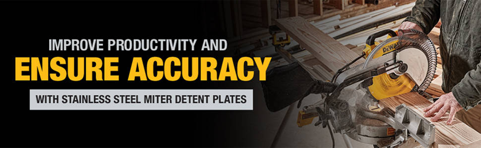 Improve productivity and ensure accuracy with stainless steel miter detent plates