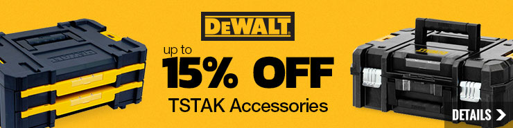 Up to 15% off DEWALT TSTAK Accessories